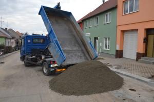 Dovoz zavlhlé směsi betonu