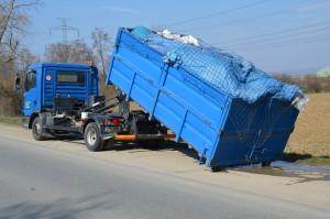 Velkoobjemový kontejner na domovní odpad