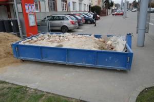 Kontejner na stavební suť